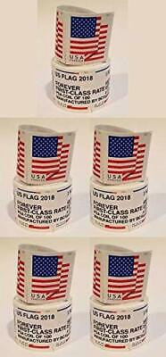 500  Forever flag Stamps 5 Coils rolls of 100 2018 flags stamp read description