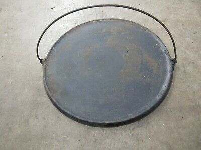 Vintage Griswold Griddle #16 Cast Iron Round Camp Fire Griddle 619 Nice Shape