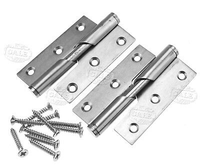 Union Lift Off Butt Hinges PAIR JH605 Stainless Steel Frame Leaf And Door Leaf