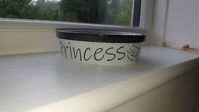 Personalised Ceramic Cat bowl,  2 types of Bowls & various colours text