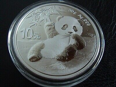 Cina 2020 moneta da 1 oncia in argento Panda 10 Yuan 1 oz silver coin China