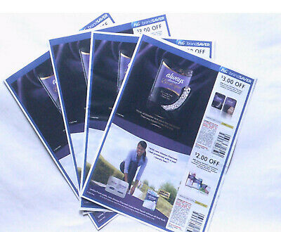 (4) Sheets - Always Discreet Boutique, Incontinence Product - Expire 07-04-20