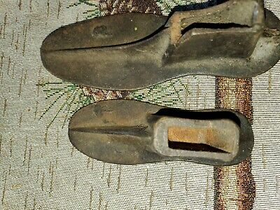 Antique Cast Iron Metal Shoe Cobbler Mold Forms Size 1 and 2