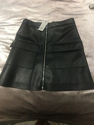River Island Girls Faux Leather Skirt Age 11 Years BRAND NEW WITH TAGS