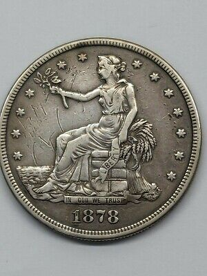 1878-S Silver Trade Dollar F Details - Cleaned