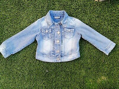 Girls Next Faded Denim Jacket Age 4 Years