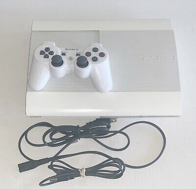 Sony PlayStation 3 PS3 Super Slim CECH-4001C 500GB Rare White Console