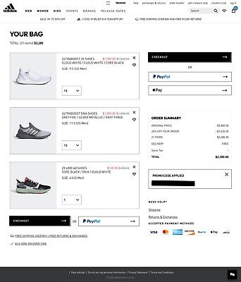 Adidas COUPON 40% OFF Online Purchase CODE - SUPER FAST eDELIVERY