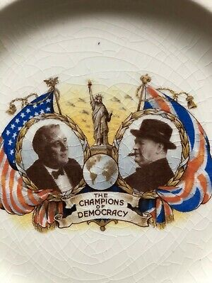 Winston CHURCHILL AND FDR PLATE