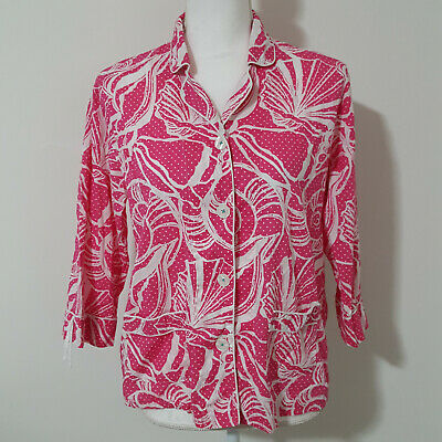 Lilly Pulitzer Pink Beach Shell PJ Top Size S Great Condition