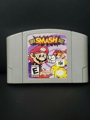 Super Smash Bros Nintendo N64 Game! Tested!! 100% Authentic!! Fast Shipping