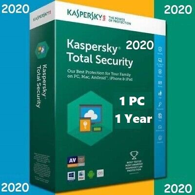 Kaspersky Total Security 1 Device | 2020 360 + Days | Code Key Only