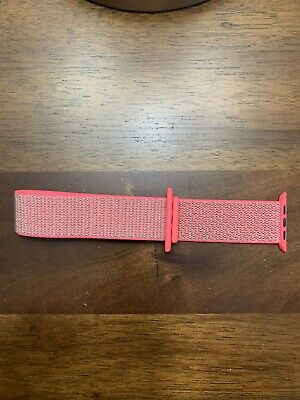 Authentic Genuine Neon pink Apple Watch Band 42mm 44mm
