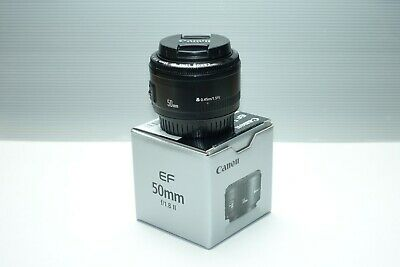 Canon EF 50mm F/1.8 II Prime Lens, Boxed with Front and Rear cap