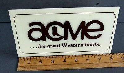 VINTAGE ACME- the great weatern boots - POINT OF SALE SIGN