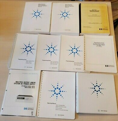 Agilent Reference Books Operating Manual & Programming Guide Lot Hewlett Packard