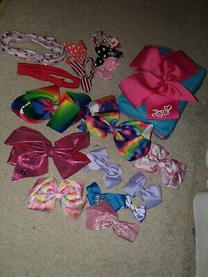 Jo Jo Siwa Pillow Secret Cover And Selection Of Bows And Hair Ties