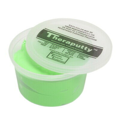 CanDo Medium Resistance Theraputty, Green Apple Scented, 1 Pound, Green