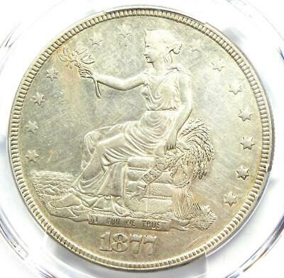 1877 Trade Silver Dollar T$1 Coin - PCGS AU Detail - Rare Certified Coin!