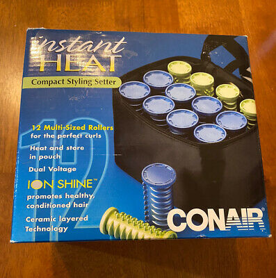 Conair Instant Heat Compact Hair Styling Setter Rollers Fast Heat HS28X Travel