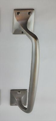 PULL HANDLE-6 FINISH-SOLID BRASS OFFSET-FRONT DOOR-LARGE ART DECO-french-SHOP