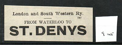 London & South Western Railway LSWR - Luggage Label (905) St. Denys