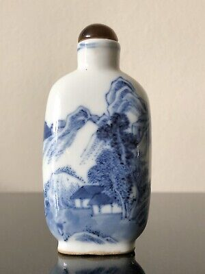A Chinese antique Blue and White porcelain snuff bottle , 18/19th Century