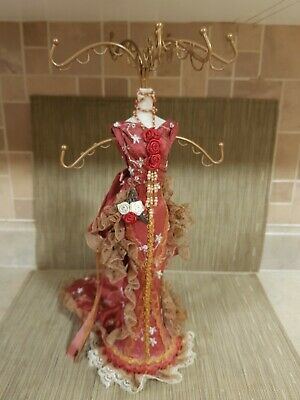 Vintage RARE HTF Victorian Mannequin Jewelry Necklace Holder Display Stand