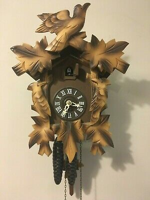 Antique West Germany Cuckoo Clock - Complete and in Working Condition - Forest
