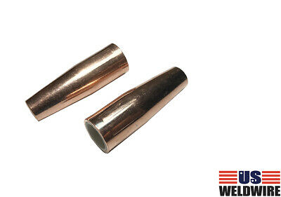 WeldingCity 2 Gas Nozzles 21-37-F 3//8 for Lincoln Magnum 100L and Tweco Mini//#1 MIG Welding Guns