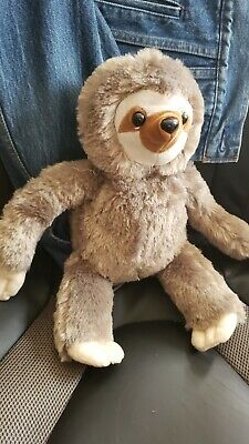 Stuffed Sloth - approx 12 inches high - like new