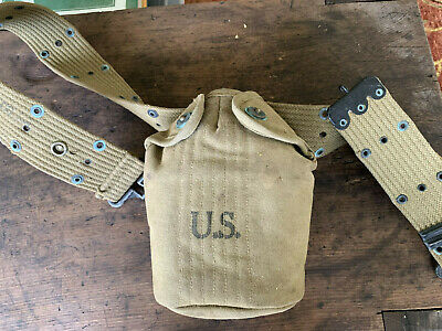 WW2 US  Canteen &  Cover ST. CROIX G. CO. 1943   Belonged to my Father-in-law