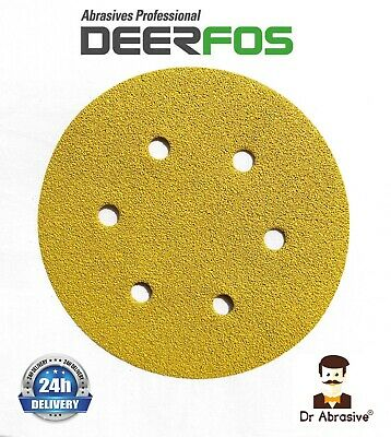 150mm Sanding Discs 6inch Sandpaper DEERFOS CA331 Pads Hook and Loop Bosch Type