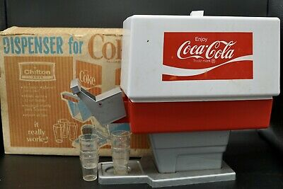 Early 1960's Chilton Toy Coke Dispenser With Box Coca Cola Collectible