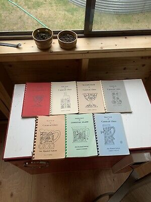 7 Carnival Glass Pattern Books Vintage Collectible