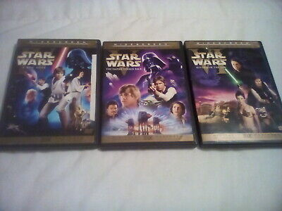 Star Wars Original Trilogy ~ Theatrical Editions 6 Disc DVD OOP HAN SHOOTS 1ST