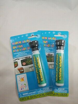 Lot of 2 Black Window Markers Temporary Paint for Car Home Glass Windows