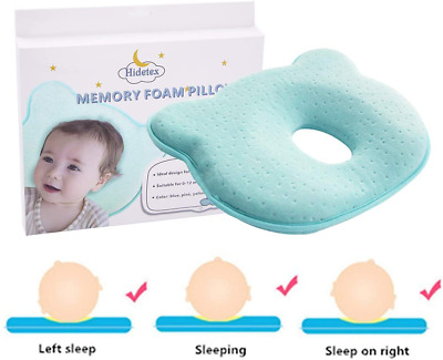Hidetex Baby Pillow - Preventing Flat Head Syndrome (Plagiocephaly) for Your New