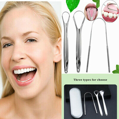 ,,,Tongue Scraper Stainless Steel Tongue Cleaner Oral Care Hygiene Scraper,,,