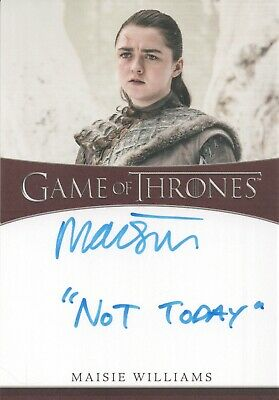 Game Of Thrones Season 8, Maisie Williams (Not Today) Inscription Autograph Card