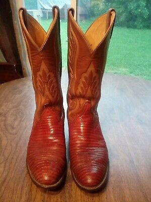 Handcrafted in The USA Browns Cowboy Leather Boot TL5100 Tony Lama Mens Caprock Tobacco 13 Height | Pullon Western Boots