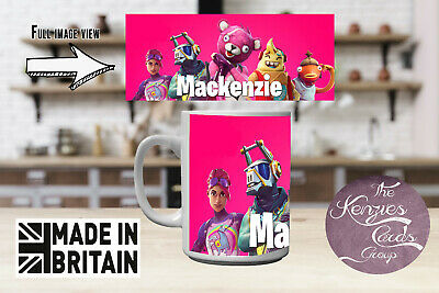 Fortnite Durr Burger 11oz mug can be personalised with any name