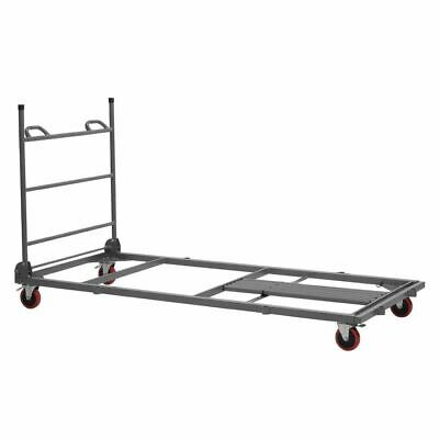 Zown Table Trolley in Grey - Powder Coated Steel - Expandable - Water Resistant