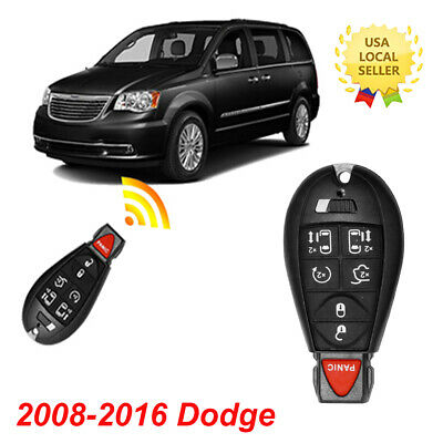 WFMJ for Dodge Grand Caravan Chrysler Town /& Country IYZC01C Keyless Entry 6 Buttons Remote Key Case Shell Fob
