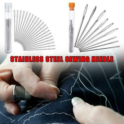 9/20pcs Thick Big Eye Sewing Self-Threading Needles Embroidery Assorted Hand