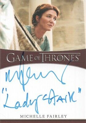 Game Of Thrones Season 8, Michelle Fairley (Catelyn) Inscription Autograph Card