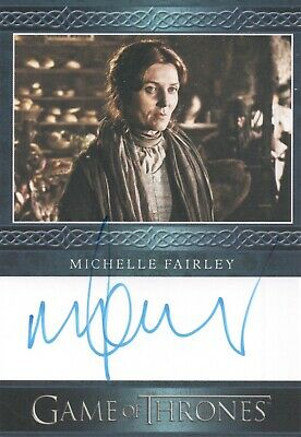 Game Of Thrones Season 8, Michelle Fairley (Catelyn) Archive Box Autograph Card