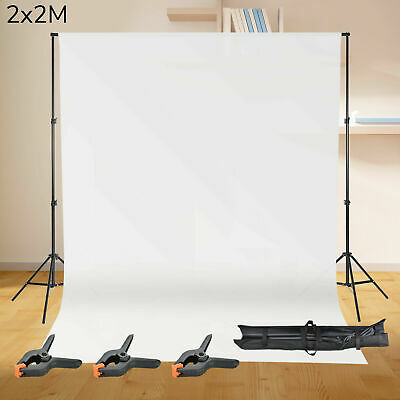 Photography Studio Background Support Stand White Screen Backdrop Photo Kit Bag