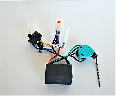 hunter ceiling fan new parts - wiring harness 02 (power  sw./rev.switch/capacitor - $45.00 | picclick  picclick