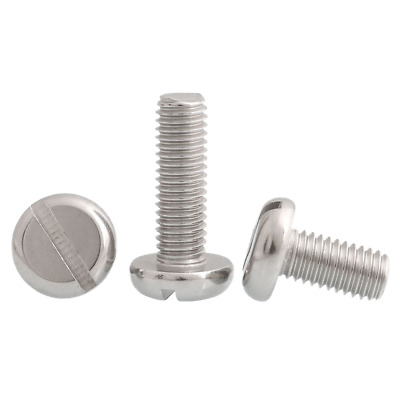 Metric 4mm / M4 304 Stainless Steel Slotted Pan Round Head Screws Bolt